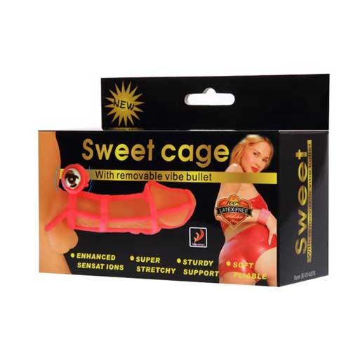 Bao cao su đôn dên rung lưới Sweet Cage