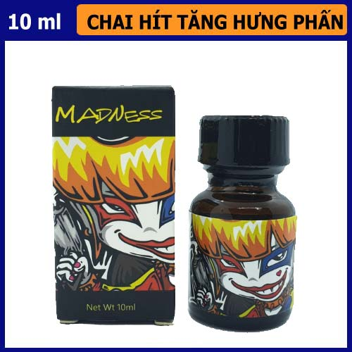 popper madness chai đen 10ml