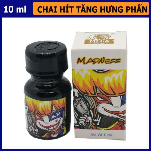 popper madness chai trắng 10ml